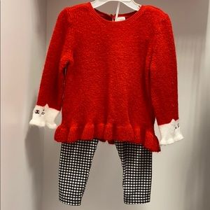 24 month sweater & pants outfit